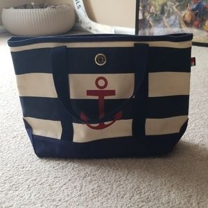 Canvas Tote with Anchor